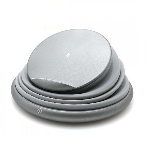 Bezicni punjac (Wi-Fi) sa led svetlom sivi preview