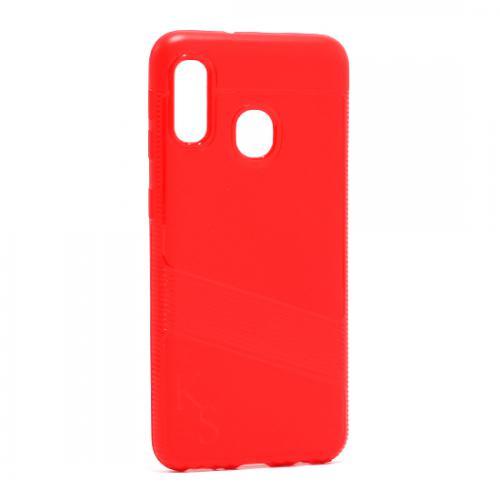 Futrola silikon KS LINE za Samsung A202F Galaxy A20e crvena preview