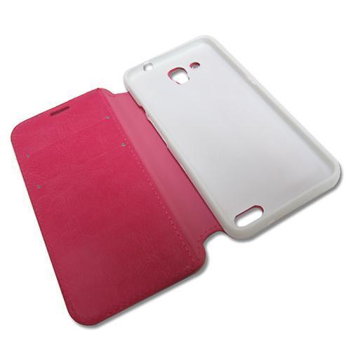 Futrola BI FOLD silikon bez prozora za Alcatel OT-6034 Idol S pink preview